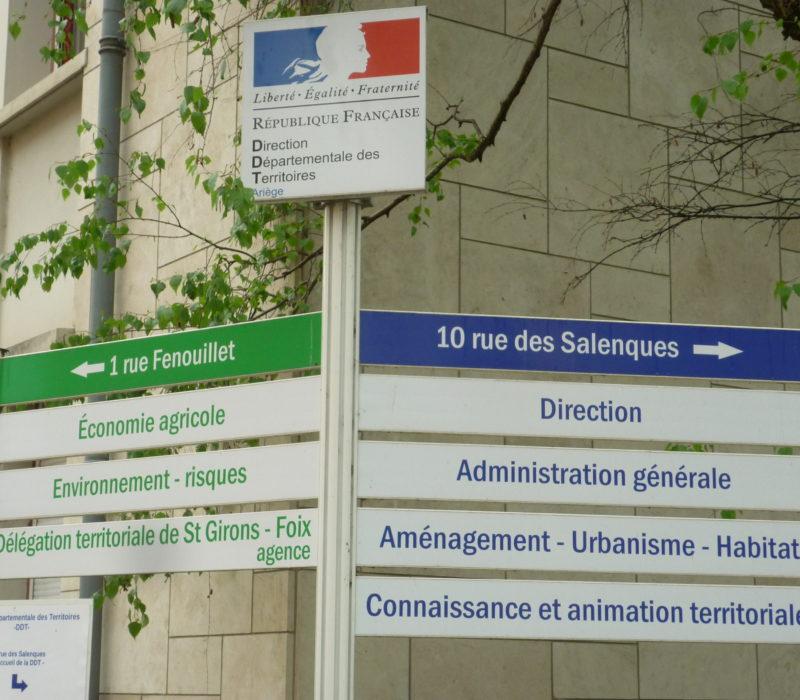 panneau Services publics