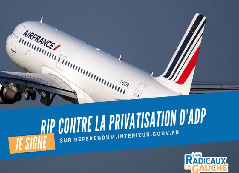 RIP contre la privatisation d'ADP