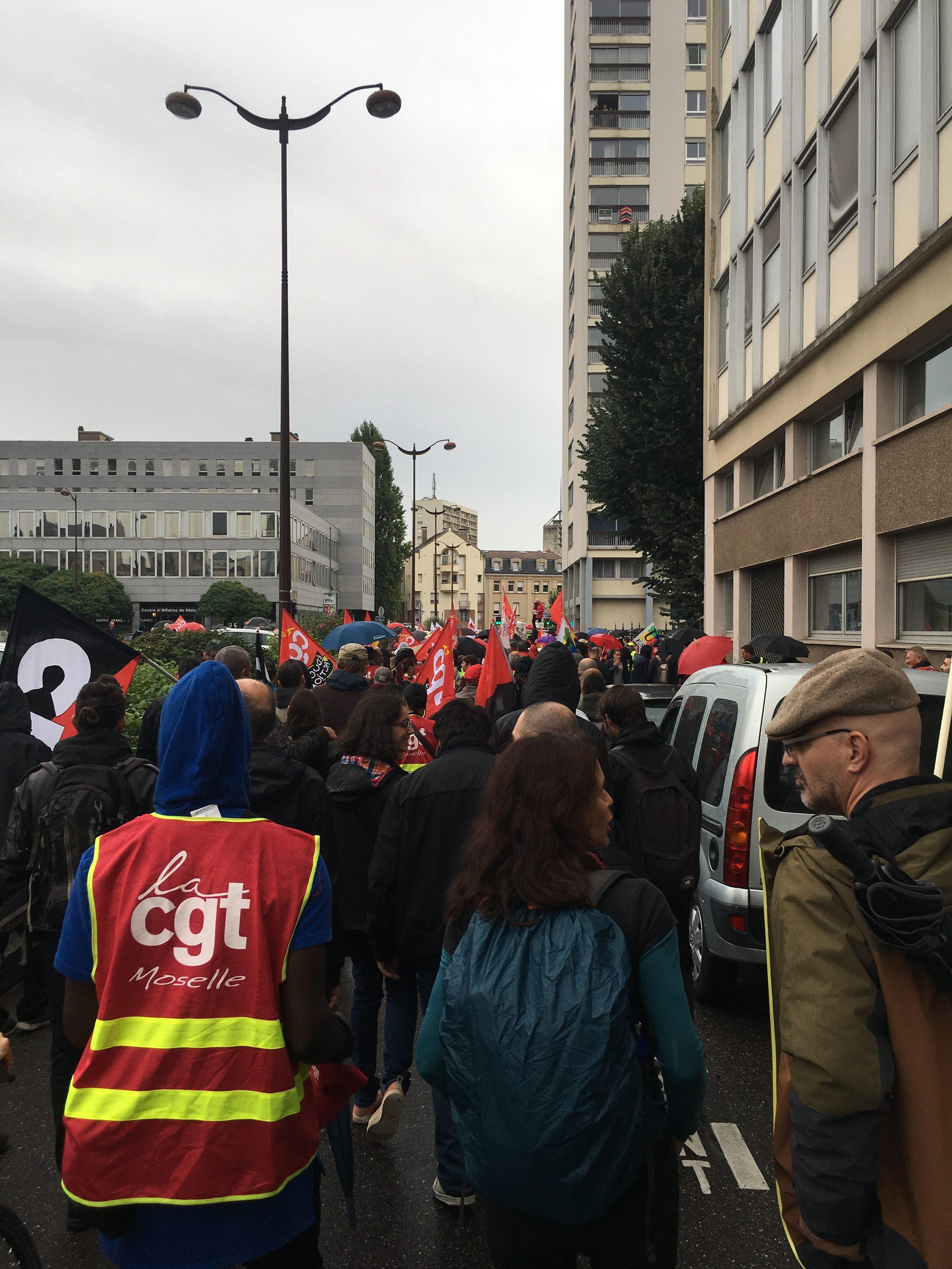 Présence des LRDG de Metz à la manifestation contre la réforme de l assurance chômage sept 2019