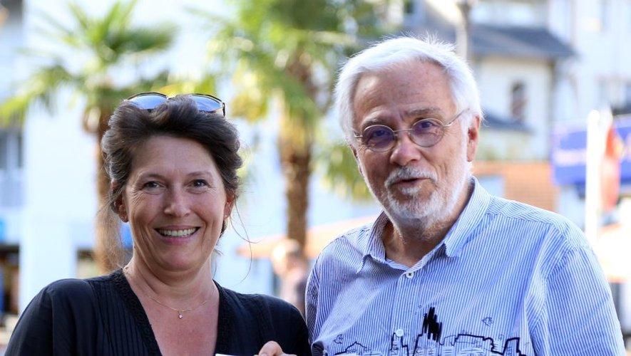 La présidente de l'association Science en Bigorre Tamara Guerrero et le président de la Ferme des étoiles Bruno Monflier présentent la semaine de la science./ Photo Florian Albessard.